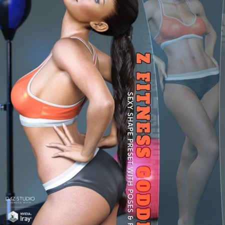Z Fitness Goddess Shape Preset and Poses for Genesis 8 Female