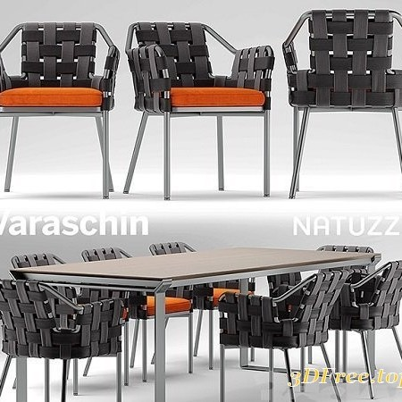 Table and chairs varaschin obi chair, Natuzzi table