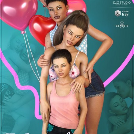 Z Sisterly Love Shape Presets and Poses for Genesis 8 Female