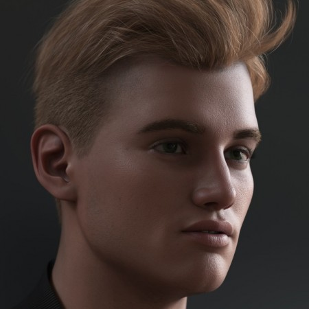 Tjark Short Hair for Genesis 8 and 8.1 Males