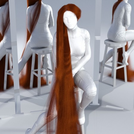 dForce Floor Length Hair for Genesis 8