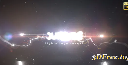 Videohive Lights Logo Reveal 30449078