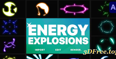 Videohive Energy Explosions | After Effects 30559666
