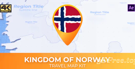Videohive Norway Map - Kingdom of Norway Travel Map 30570172