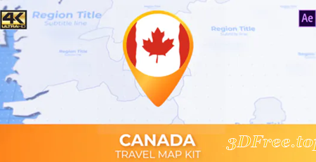 Videohive Canada Map - Canadian Travel Map 30570719