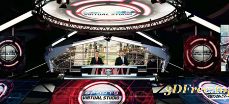 Videohive Sports Virtual Studio Set 21282905