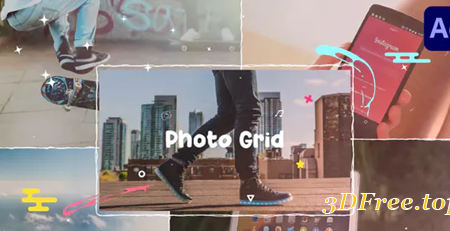 Videohive Cartoon Photo Grid | After Effects 30627370