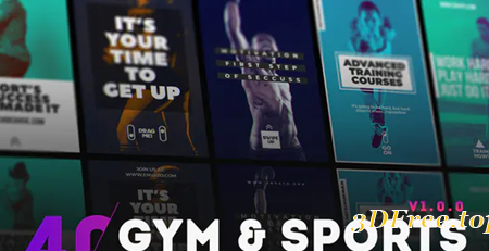 Videohive 40 GYM & Sports Instagram Story 30494144