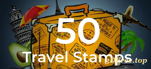 Videohive 50 Travel Stamps 23673412