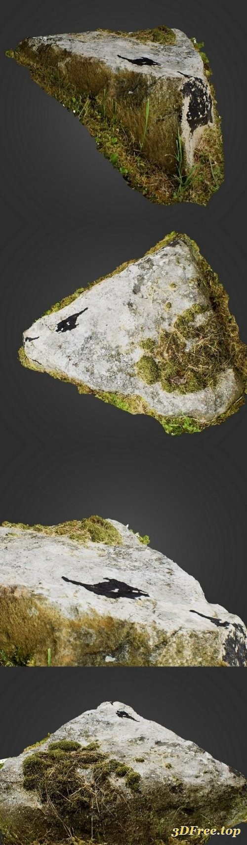 3D Mountain Rock HD Scan