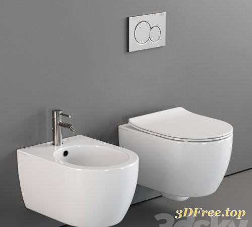 Scarabeo Ceramiche Moon Wall-Hung WC