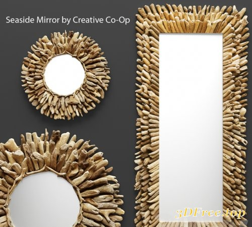 Seaside Mirror by Creative Co-Op
