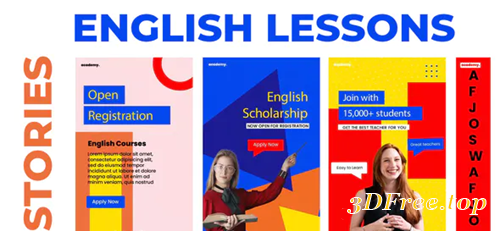 Videohive English Lessons Study Stories Instagram 31121330