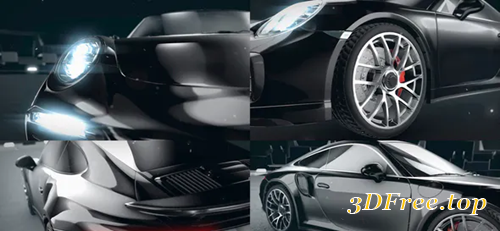 Videohive Sport Car Racing Logo Intro 30809376
