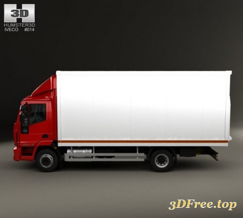 Iveco EuroCargo Box Truck 2013 3D Model