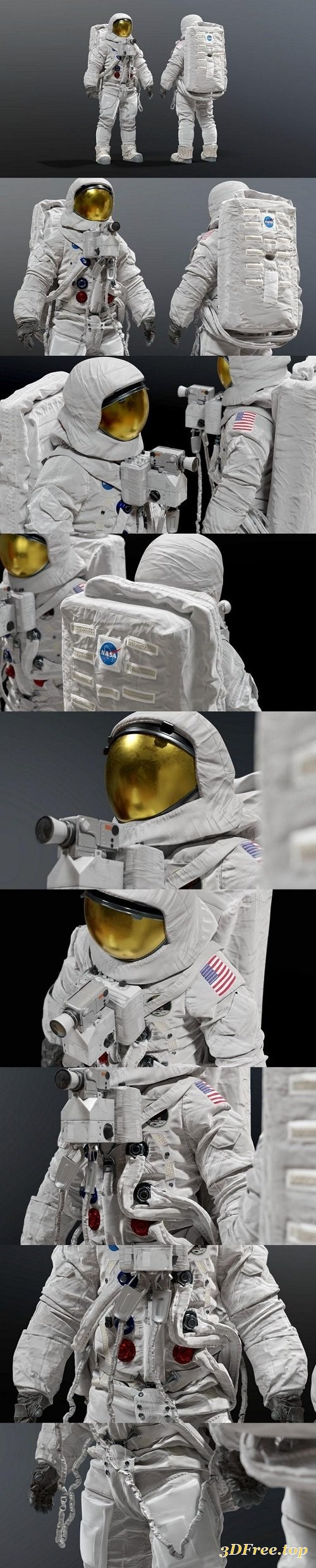Cgtrader - SPACESUIT NASA APOLLO 11 3D model