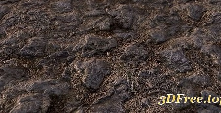 Stone Ground PBR Material