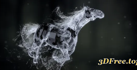 Videohive Splashing Horse Logo Reveal 20457656
