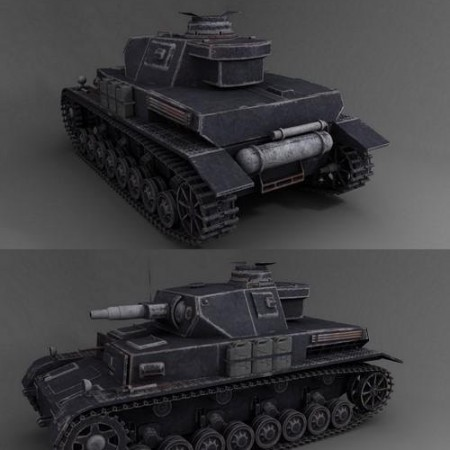 WW2 German Panzer IV asuf tank