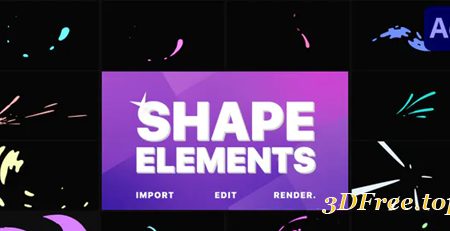 Videohive Shape Elements Pack | After Effects 30921341