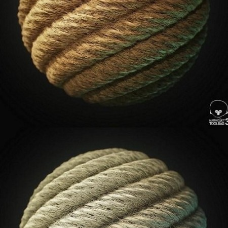 Rope Tileable PBR Material Texture