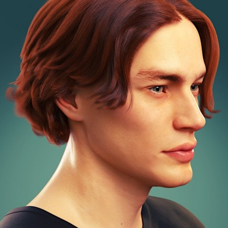 dforce Timothee Hair for Genesis 8 and 8.1 Males and Torment 8.1