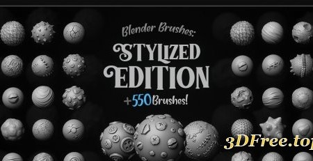 ArtStation – [MEGAPACK] 550+ Blender Brushes Stylized Edition (4K Alphas Included)