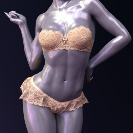 X-Fashion Sheer Lace Lingerie Genesis 8 Female