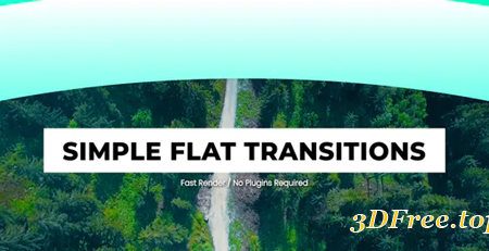 Videohive Simple Flat Transitions For After Effects 30954297
