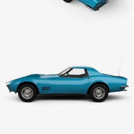 Chevrolet Corvette (C3) Convertible 1968 3D model