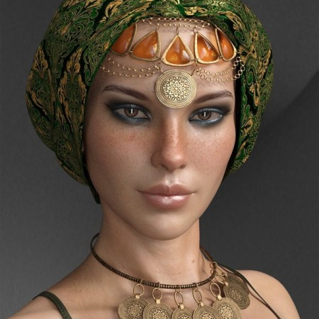 X Fashion Headpiece and Accessories for Genesis 8 Females