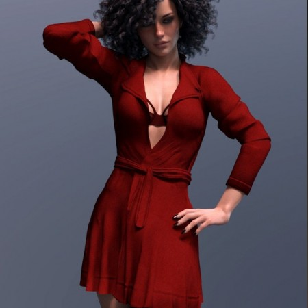 dForce X-Fashion Temptation Dress Coat for Genesis 8 Female(s)