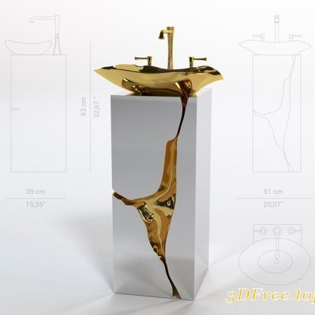 Lapiaz washbasin from Maison Valentina