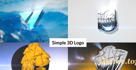 Videohive Simple 3D Logo Intro 30987091