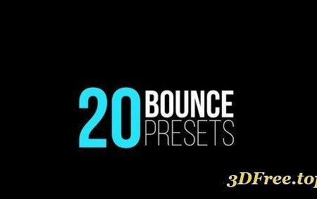 Bounce Presets (IN & OUT) After Effects Templates 31611