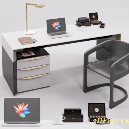 Rubelli Notaro Desk and Minotti Twombly