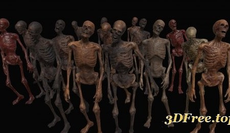 Cgtrader - Skeleton Zombies VR / AR / low-poly 3d model