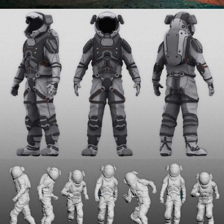 ArtStation - Mars – Model Pack – 8k 32Bit Terrain + 7 Posed Characters + Rover