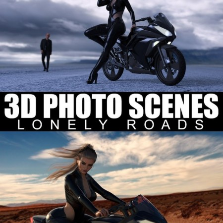 3D Photo Scenes - Lonely Roads