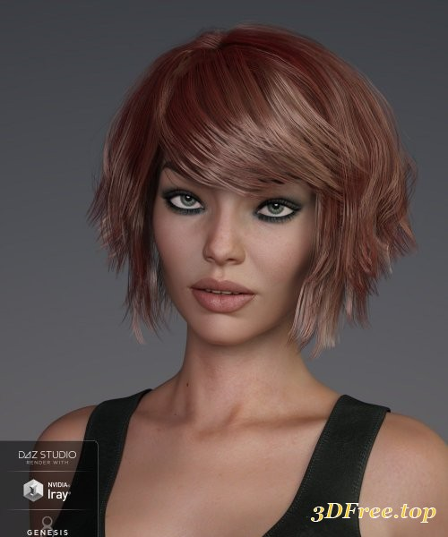Pop Cut Hair for Genesis 3 and 8 Female(s)