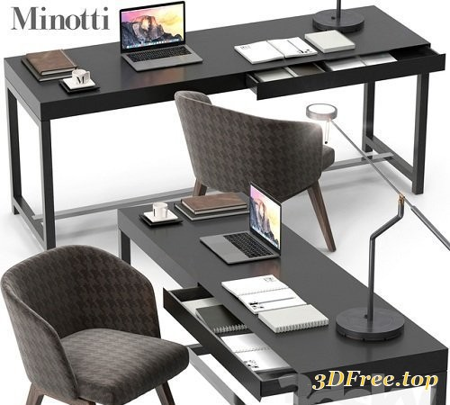 Minotti Fulton desk set