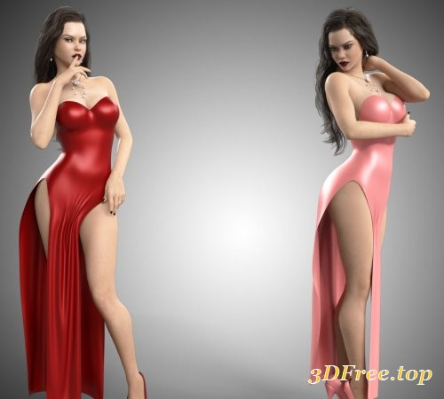 dForce Hot Dress for Genesis 8 Females