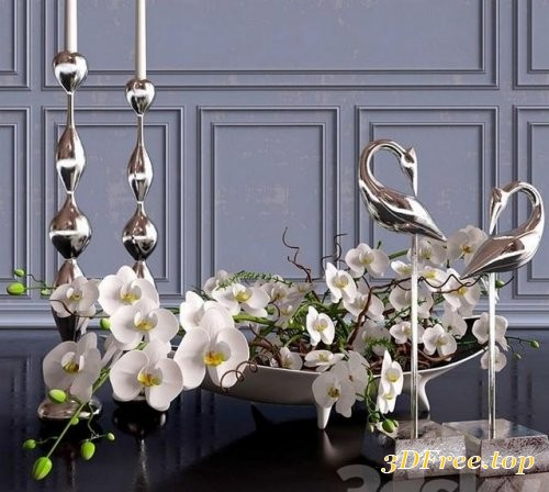 Decorative set. Orchid