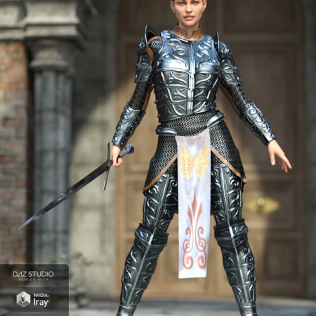 dForce High Paladin for Genesis 8 Female(s)