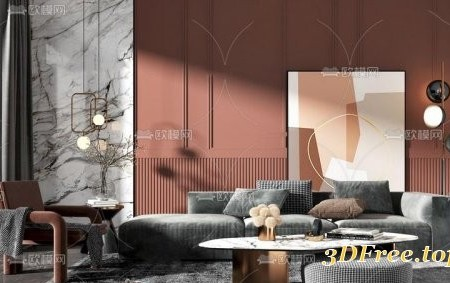 Modern fabric sofa combination 04