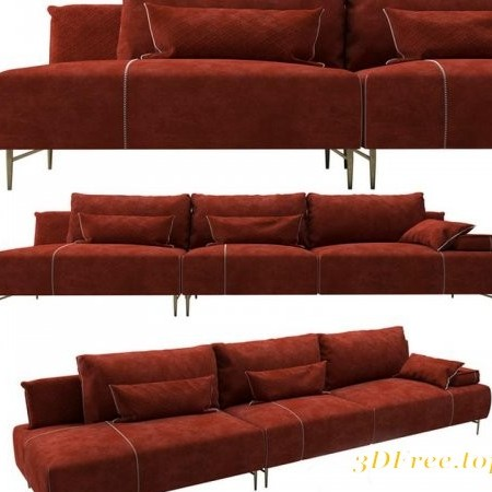 Modern fabric sofa combination 03
