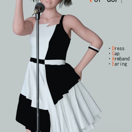 dForce Asymmetric Dress Set For G8F
