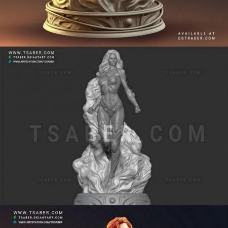 Starfire Statue – Teen Titans Collectibles 3D print model