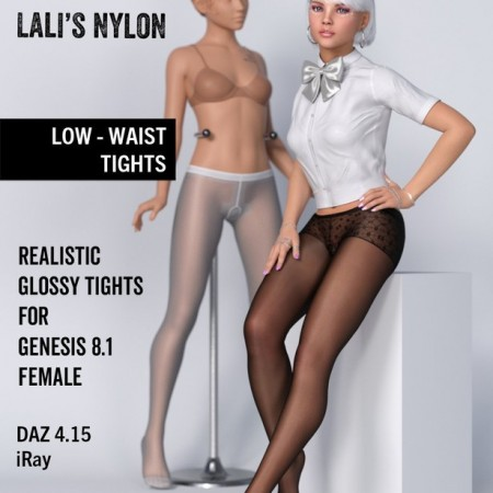 Lali's Low-Waist Tights for Genesis 8.1 Female