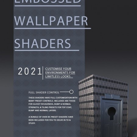 Embossed Art Deco Wallpaper Shaders